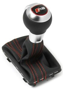 Audi RS3 (8V) shifter handle DSG Tuning Sport leather shift knob red stitching