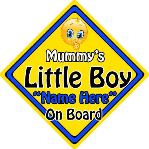 Personalised Child//Baby On Board Emoji Car Sign ~ Mummy/'s Little Boy On Board