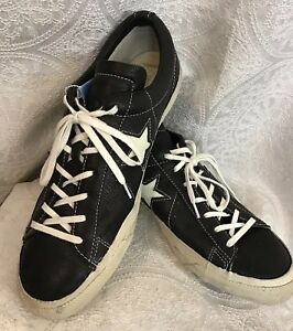 e15668ecff02 John Varvatos For Converse all star tennis shoe black leather lace ...