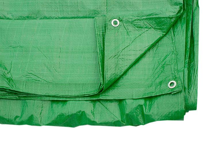 Green Tarpaulin Cover Ground Sheet + Eyelets 5.5m X 9m 80 GSM