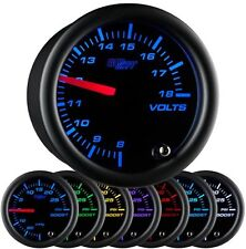 52mm Black 7 Color Volt Gauge - GS-C705