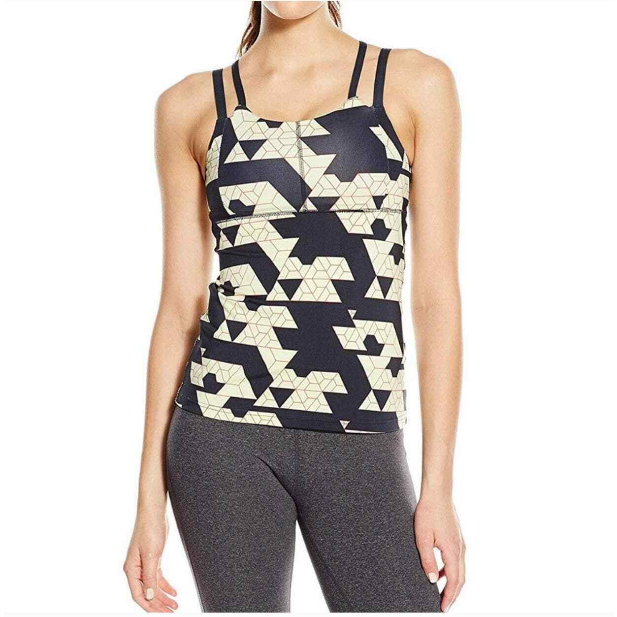 Oiselle Womens Verrazano Geometric Strappy Tank Top Size 4 Gym Yoga Active