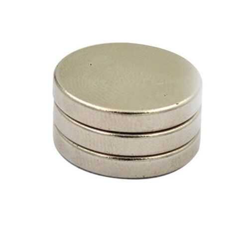 2x Everhang RARE EARTH DISC MAGNETS 18mm 3Pieces Round SILVER
