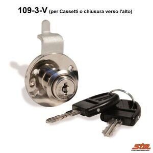SERRATURA 109-3 Cromata L.20 mm CASSETTI e ANTE MOBILI ...