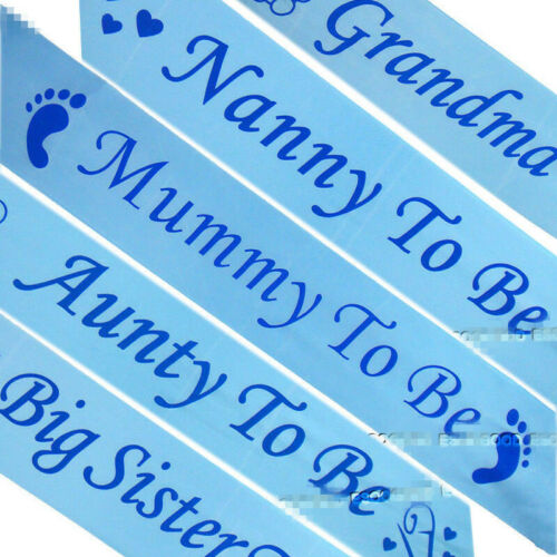 Aunty,Big Sister /& Grandma to be sash Nanny Mummy to be UK BABY SHOWER SASHES