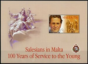 Malta Stamps 2004 MNH Salesians of Don Bosco 100 Years Priests 1v M/S
