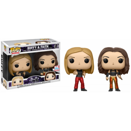 "FUNKO EXCLUSIVE BUFFY /& FAITH 2 Pack 3.75/"" POP Vinyl Figure VAMPIRE SLAYER BTVS"