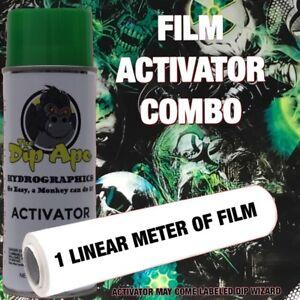HYDROGRAPHIC FILM COMBO TRIBAL SKULLS DIP APE ACTIVATOR WATER TRANSFER