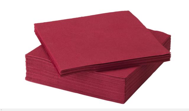 80 x violet 3 ply serviettes en papier 40cm x 40cm party serviettes de table napkin