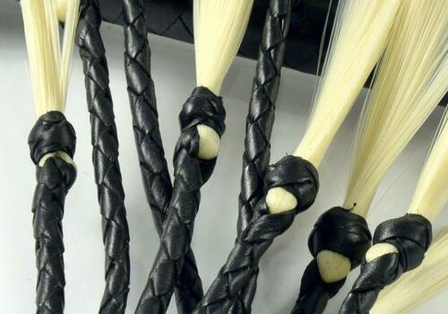 """33/"""" Training Tail Handmade Genuine Leather Floggers-Horse /& Bull Crops Flogger"""