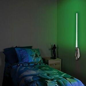 Wall Hung Lightsaber : Star Wars Lightsaber Light Lamp Remote Control Luke Kids Teens Room Wall-mounted
