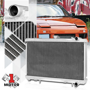 For 89-94 240SX S13 Silvia KA24//KA24DE KA 2-Row Aluminum Core Cooling Radiator