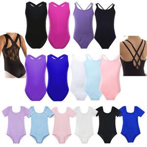 Girls-Kids-Gymnastics-Leotard-Ballet-Dress-Training-Uniform-Dance-wear-Costumes