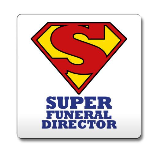 Royal Blue SUPER Funeral Director hero novelty job title Coaster funny 087