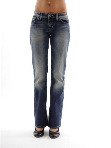 Freesoul Jeans Pantaloni Taty Blau 5 Tasche Usedeffekte Borchie Regular Fit