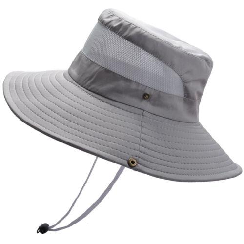 Unisex Men Women Boonie Fishman Bucket Hat Wide Brim Camo Outdoor Hiking Sun Hat