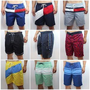 NWT-Tommy-Hilfiger-Mens-Logo-Swim-Shorts-Board-Shorts-Swimming-Trunks
