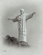 Darren Baker Original drawing Christ The Redeemer & COA