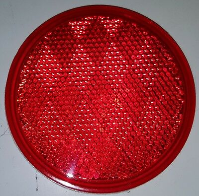"""2 3 1//4/"""" RED ROUND SELF ADHESIVE REFLECTORS 0253484 NEW HYKO CDRF-4R PACK"""