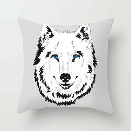 "18/"" NOIR BLANC animaux Polyester Pillow Case Sofa Cushion Cover Home Decor"
