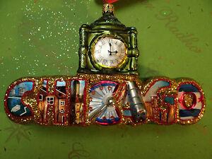 Christopher Radko Chicago Ornament