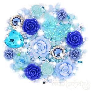 'lagon Bleu' Bleu & Aqua Cabochon Perle & Pierres Précieuses Set Kit De Decoden