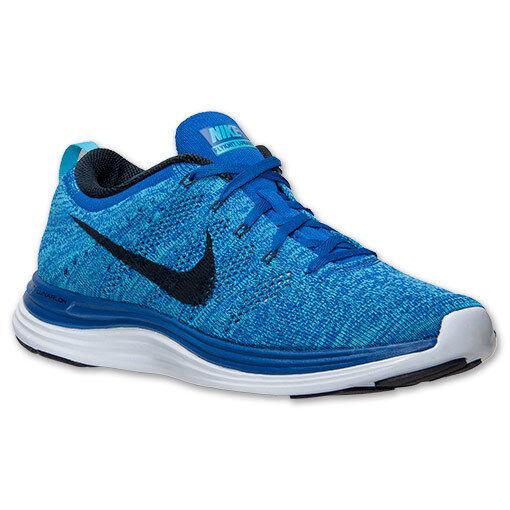 Auténticas Nike Free Flyknit Azul Lunar 1 Blanco Negro Azul Flyknit Real 554887 440 para hombre Talla 98259d