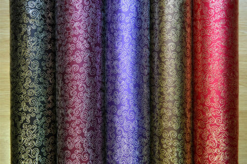 "Swirl Metallic Brocade Fabric 44/"" wide for Jackets and waistcoats *FREE P/&P*"