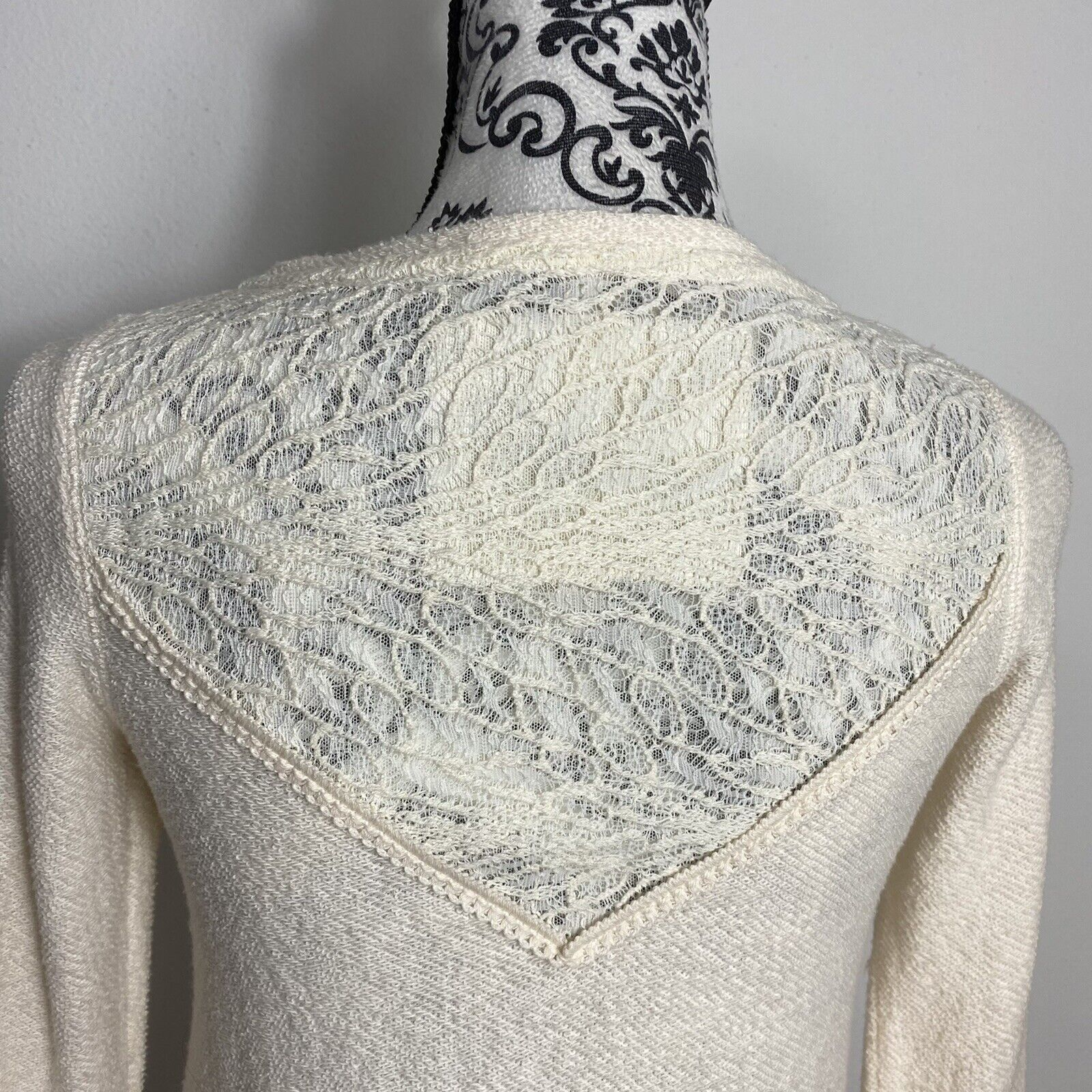 Angel Of The North Fairycore Lace Detail Sweater … - image 7