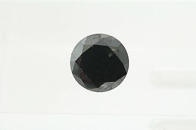 Begeistert Egl 4.05ct Fancy Verbesserte Schwarz Rund Loser Diamant 9.54-9.40 X 6.94mm