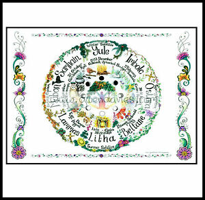 Pagan Calendar.Details About Wheel Of The Year Card Calendar Pagan Wiccan Hand Fasting Pagan Love Celtic Art