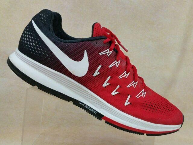 köpa billigt köper nu officiell leverantör Nike Air Zoom Pegasus 33 Red Black Training Shoes 843802-601 Men's ...