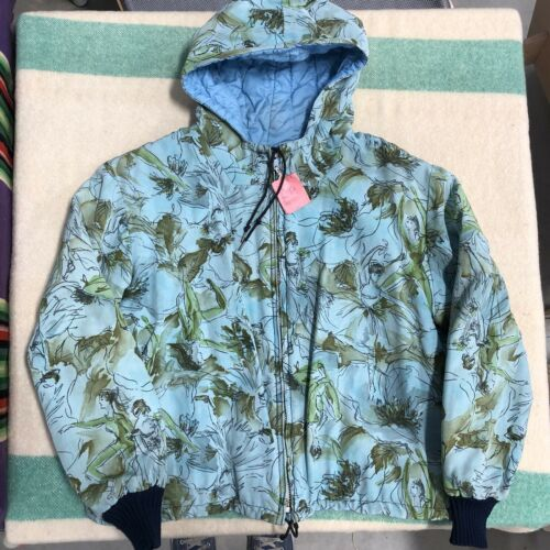 Vintage 40s Jacket Rare Ski Pattern Hooded Reversi