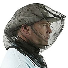 Trekmates Black Mesh Mosquito Midge Head Face Net Protector With Stuff Sac New