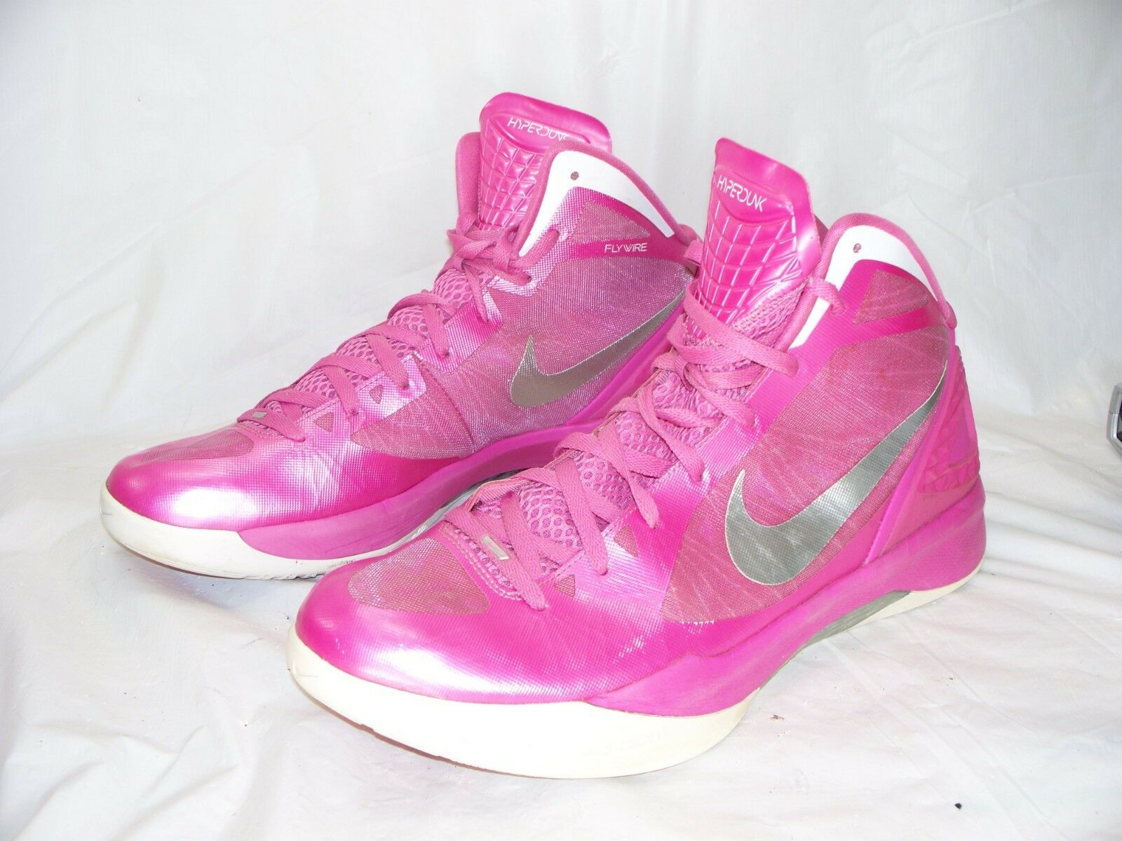 Nike Zoom Hyperdunk Mens Basketball shoes 454138 602 Breast Cancer Pink Size 15