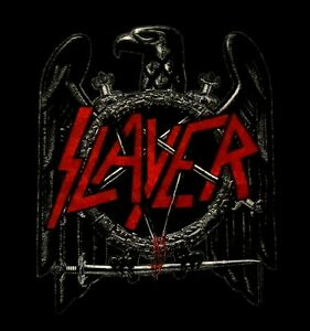 SLAYER-cd-lgo-BLACK-EAGLE-Official-SHIRT-SMALL-new