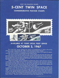 #1331-32 Space Twins Stamp Poster- Unofficial Souv Page Flat w/Zip FDC
