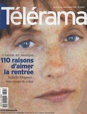 telerama n°2695 isabelle huppert eric rohmer david lynch 2001
