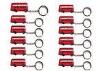 12 X Metallic London Bus Key Ring / Chain British England UK Souvenir Gift