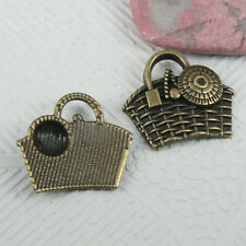 10pcs antiqued bronze color grape fruit design charms EF0652