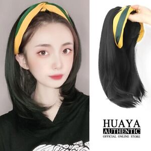 cute short/long straightcurly synthetic wigs cap hairband