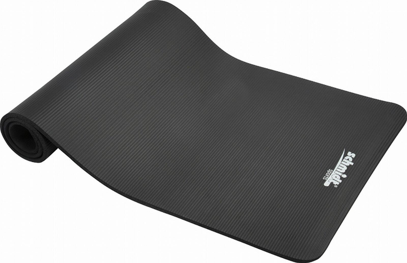 Deuser Matte black XL, Trainingsmatte, Yoga-Matte. Schaumstoff. Sehr griffest.