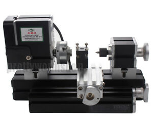 Details about 60W High Power Mini Metal Lathe Soft Metalworking Woodworking  DIY Model Making