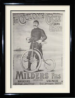 Vintage cycling Pirelli Bike framed picture and posters