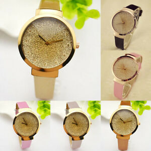 New-Bling-Women-Starry-Temperament-Sands-Shiny-Quartz-Analog-Leather-Wrist-Watch