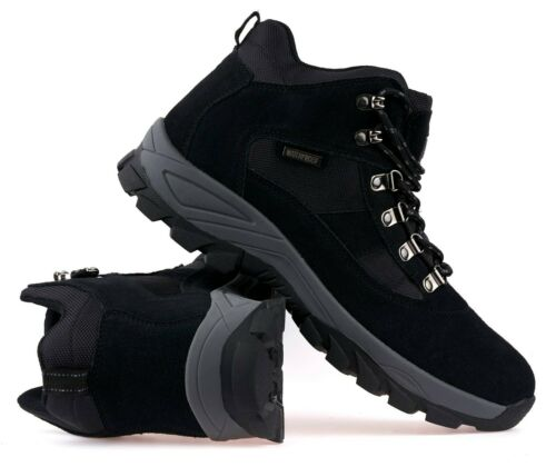 Mens Leather Waterproof Ankle Boots Lightweight Walking Hiking Trail Boots Shoes