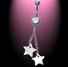 De Rêve Piercing Nombril 2 Étoiles Nacre Coquille Petit Bracelet,