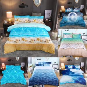 Sea-Beach-Starfish-Seashell-Quilt-Doona-Duvet-Cover-Set-Queen-King-Size-Bedding