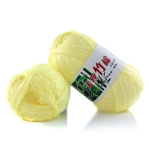 New 100/% Bamboo Cotton Warm Soft Natural Knitting Crochet Knitwear Wool Yarn 50g