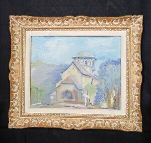 OEUVRE-de-JEAN-DRUILHE-XXEME-HUILE-ARTISTE-PEINTRE-VINTAGE-tableau-ANCIEN